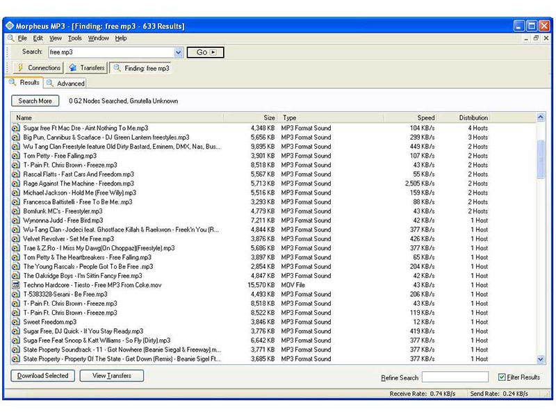 Morpheus MP3 full screenshot